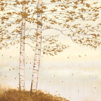 Golden Birch I Off White art print by James Wiens for $58.75 CAD