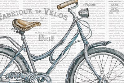 Bicycles III art print by Daphne Brissonnet for $46.25 CAD
