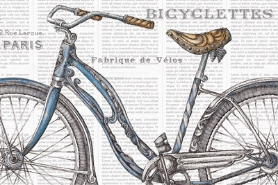 Bicycles IV art print by Daphne Brissonnet for $46.25 CAD