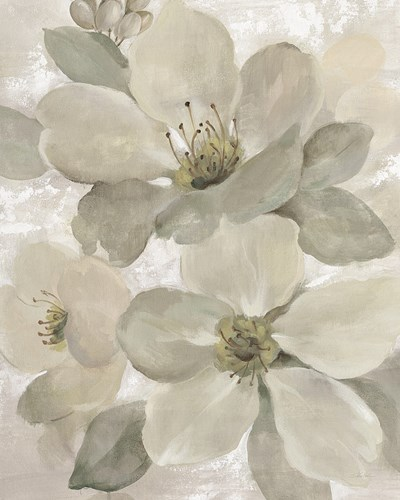 White on White Floral I Crop Neutral art print by Silvia Vassileva for $58.75 CAD