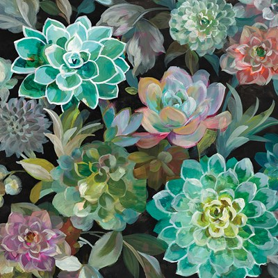 Floral Succulents v2 Crop art print by Danhui Nai for $58.75 CAD