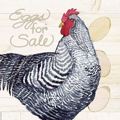 Life on the Farm Chicken I art print by Kathleen Parr McKenna for $36.25 CAD