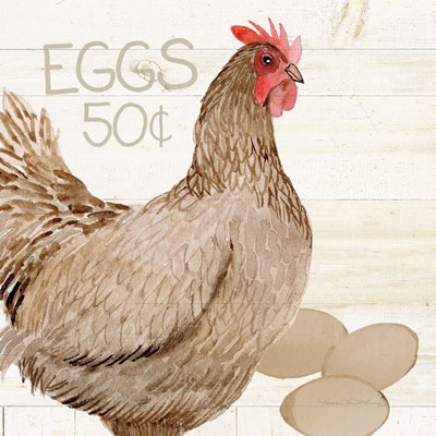 Life on the Farm Chicken III art print by Kathleen Parr McKenna for $36.25 CAD