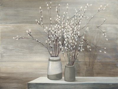 Pussy Willow Still Life Gray Pots art print by Julia Purinton for $56.25 CAD