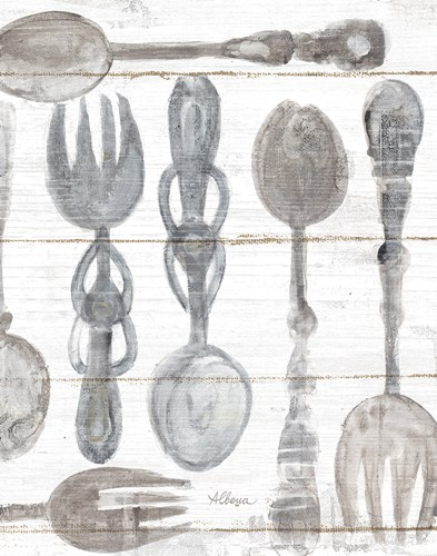 Spoons and Forks III Neutral art print by Albena Hristova for $42.50 CAD