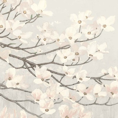Dogwood Blossoms II Gray art print by James Wiens for $58.75 CAD
