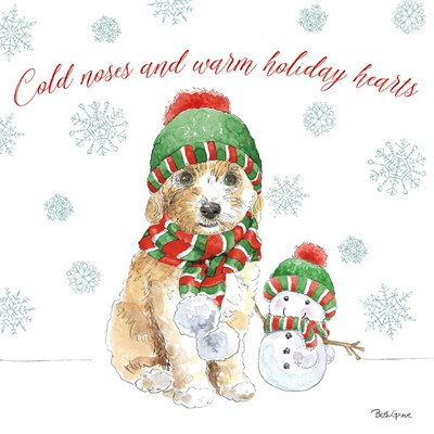Holiday Paws IV art print by Beth Grove for $51.25 CAD