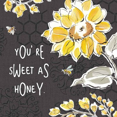 Bee Happy III Black art print by Daphne Brissonnet for $67.50 CAD