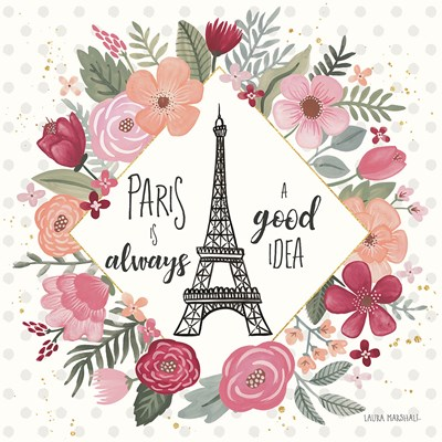Paris is Blooming IV art print by Laura Marshall for $58.75 CAD
