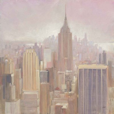 Manhattan in the Mist v2 art print by Julia Purinton for $83.75 CAD