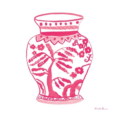 Chinoiserie IV Pink art print by Farida Zaman for $36.25 CAD