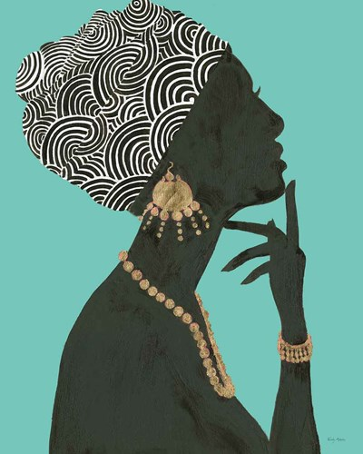 Graceful Majesty I Turquoise Crop art print by Emily Adams for $86.25 CAD