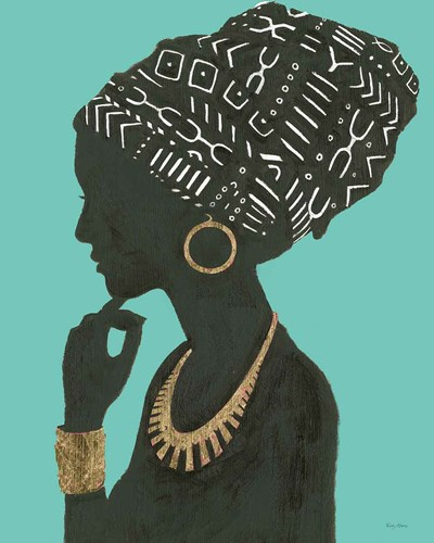 Graceful Majesty II Turquoise Crop art print by Emily Adams for $86.25 CAD