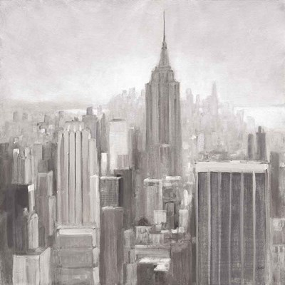 Manhattan in the Mist Gray art print by Julia Purinton for $83.75 CAD