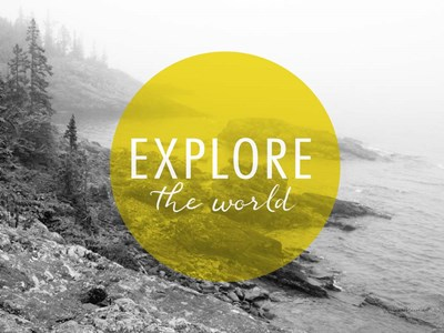 Explore the World v2 art print by Laura Marshall for $42.50 CAD