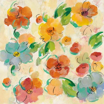 Playful Floral Trio III art print by Silvia Vassileva for $58.75 CAD