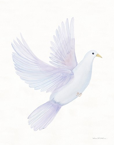 Easter Blessing Dove I art print by Kathleen Parr McKenna for $42.50 CAD