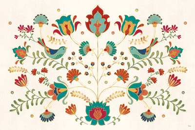 Folk Floral I art print by Veronique Charron for $46.25 CAD