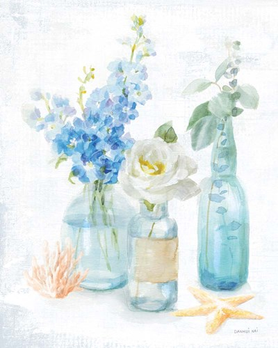 Beach Cottage Florals II art print by Danhui Nai for $58.75 CAD