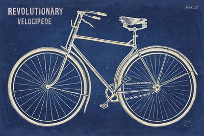 Blueprint Bicycle art print by Sue Schlabach for $46.25 CAD