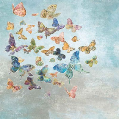 Beautiful Butterflies v3 Square art print by Danhui Nai for $58.75 CAD