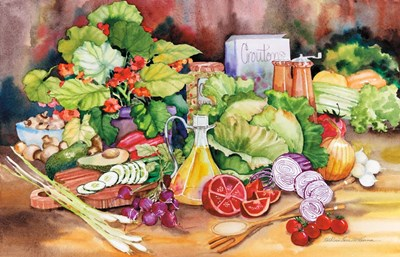 Garden Salad art print by Kathleen Parr McKenna for $45.00 CAD