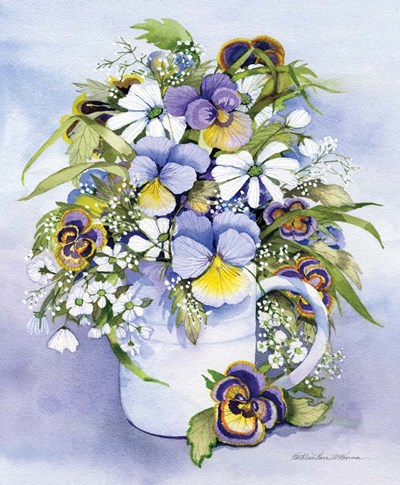 Pansies Perfect art print by Kathleen Parr McKenna for $41.25 CAD