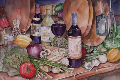 Gourmet Night art print by Kathleen Parr McKenna for $28.75 CAD