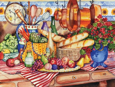 French Kitchen art print by Kathleen Parr McKenna for $30.00 CAD