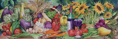 Vegetable Medley art print by Kathleen Parr McKenna for $42.50 CAD