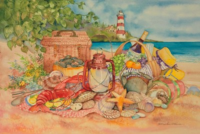 Bayside Picnic art print by Kathleen Parr McKenna for $46.25 CAD