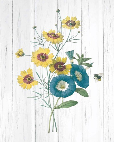 Botanical Bouquet on Wood II art print by Wild Apple Portfolio for $58.75 CAD
