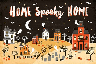 Spooky Village II art print by Laura Marshall for $52.50 CAD