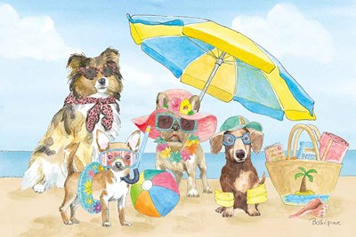 Summer Paws I art print by Beth Grove for $65.00 CAD
