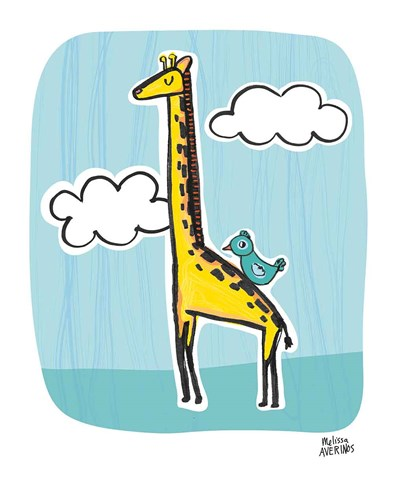 Wild About You Giraffe art print by Melissa Averinos for $42.50 CAD