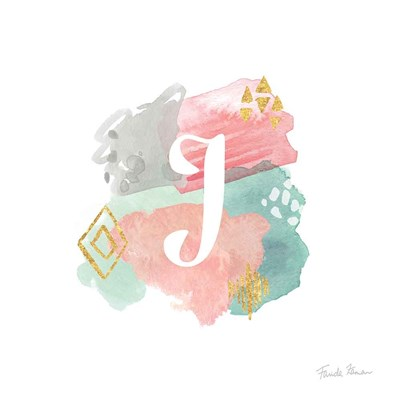 Abstract Monogram J art print by Farida Zaman for $36.25 CAD
