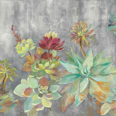 Succulent Garden Gray Crop art print by Silvia Vassileva for $83.75 CAD