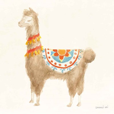 Festive Llama IV art print by Danhui Nai for $58.75 CAD