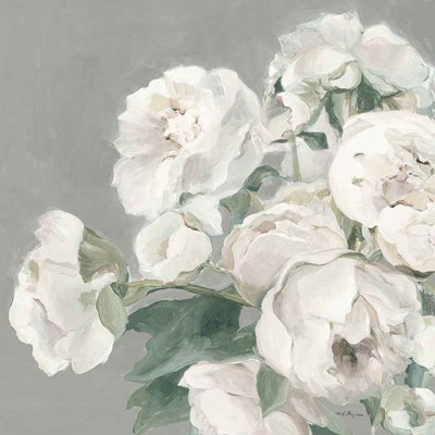 Peonies on Gray art print by Marilyn Hageman for $58.75 CAD