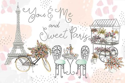 Sweet Paris I art print by Laura Marshall for $46.25 CAD