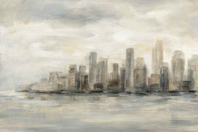 Manhattan Low Clouds art print by Silvia Vassileva for $65.00 CAD