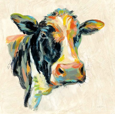 Expressionistic Cow I art print by Silvia Vassileva for $58.75 CAD