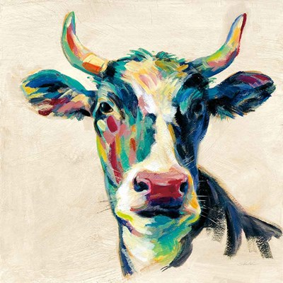 Expressionistic Cow II art print by Silvia Vassileva for $58.75 CAD