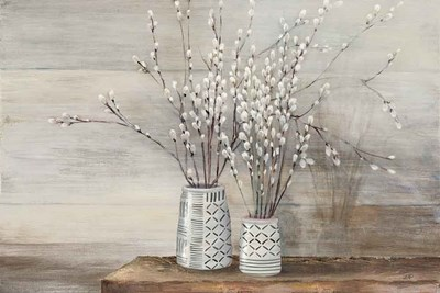 Pussy Willow Still Life with Designs art print by Julia Purinton for $65.00 CAD