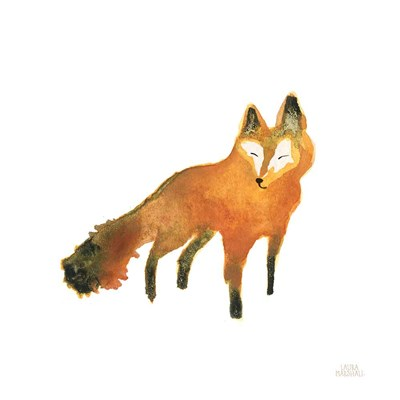 Woodland Whimsy Fox art print by Laura Marshall for $36.25 CAD