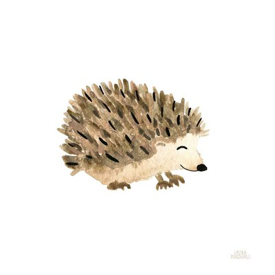 Woodland Whimsy Hedgehog art print by Laura Marshall for $36.25 CAD