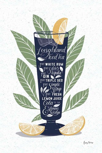 Fruity Cocktails II Navy art print by Becky Thorns for $46.25 CAD