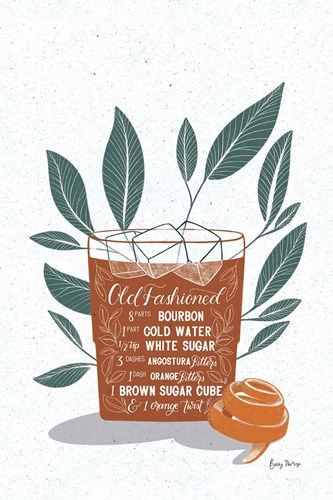 Fruity Cocktails IV Rust art print by Becky Thorns for $46.25 CAD