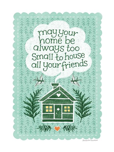 Friends at Home art print by Alexandra Snowdon for $42.50 CAD