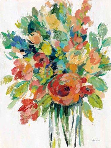 Earthy Colors Bouquet I White art print by Silvia Vassileva for $56.25 CAD